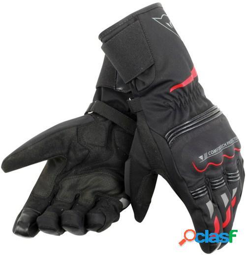 Dainese tempest d-dry® gloves longue, gants moto d'hiver, noir-rouge