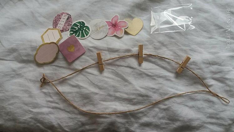 8 cartons décoratifs sur fil – décoration de noël -