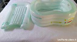Baignoire et matelas à langer gonflables