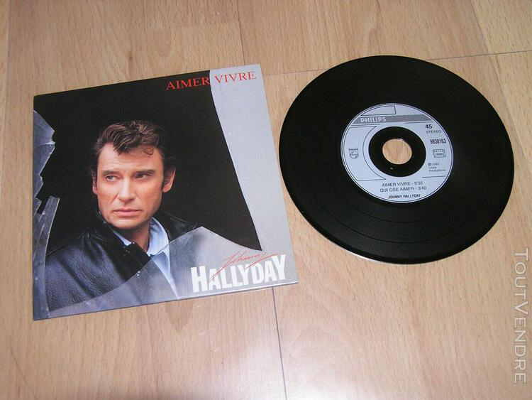 Johnny hallyday - aimer vivre - cd single 2 titres
