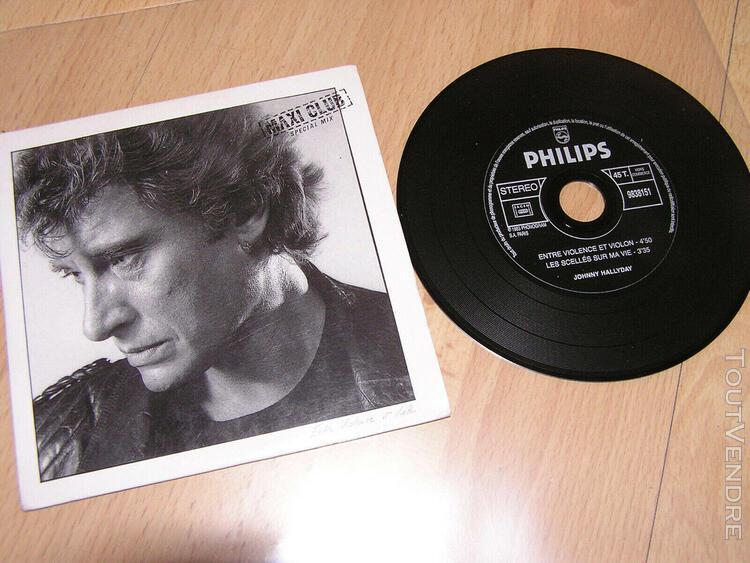 Johnny hallyday - entre violence et violon - cd single promo