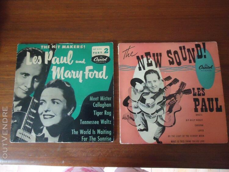 """Les paul"""" and mary ford 45 tours disque vinyles"""
