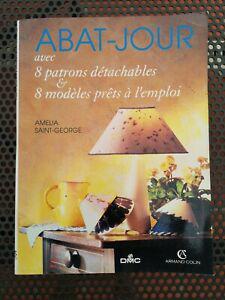 """Livre """" les abat jour """" technique fabrication lampe lustre"""