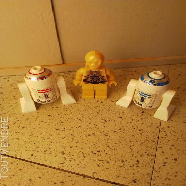 Lot lego star wars figurine c3po r2d2 r4 droïdes en bon