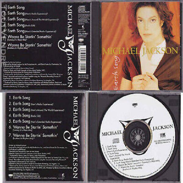 Michael jackson earth song cd maxi single remixes edition co