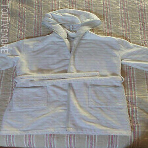 Peignoir de bain blanc rose gris petit bateau fille 10 ans
