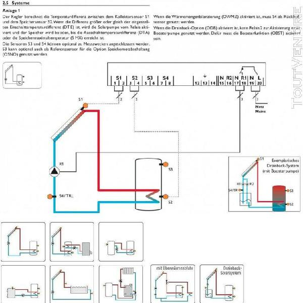 Regulation differentielle deltasol bs/4 complet avec 3 sonde