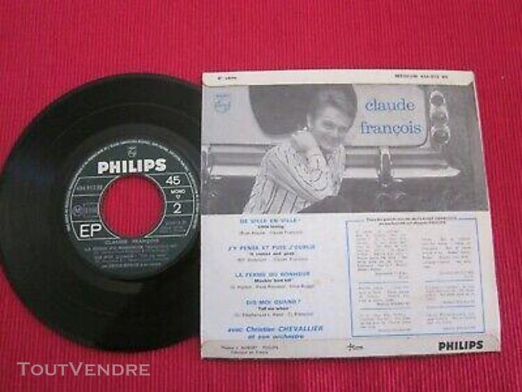 Vinyle ep 45 tours claude francois j'y pense et puis j'oubli