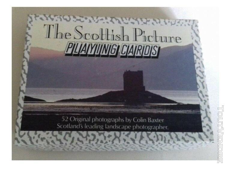 Carte de jeux - the scottish picture - 52 cartes - colin bax