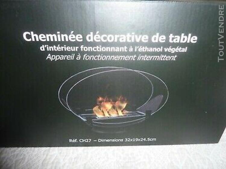 Cheminée de table au bio-éthanol ovalis ch27
