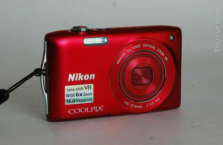 Compact numérique nikon coolpix s 3300 - rouge parfait