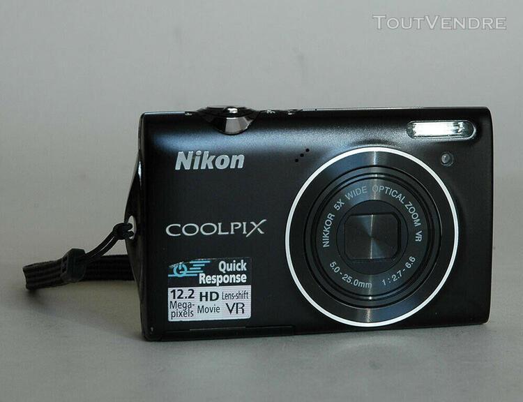 Compact numérique nikon coolpix s 5100 - noir parfait