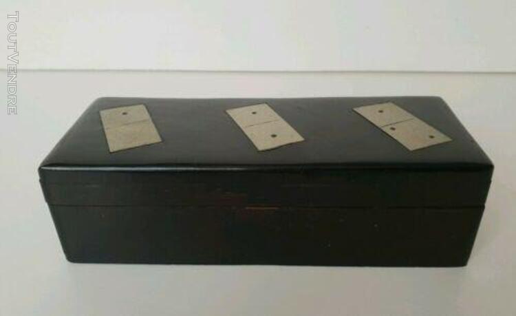 Jeu dominos design en bois précieux et métal complet 28