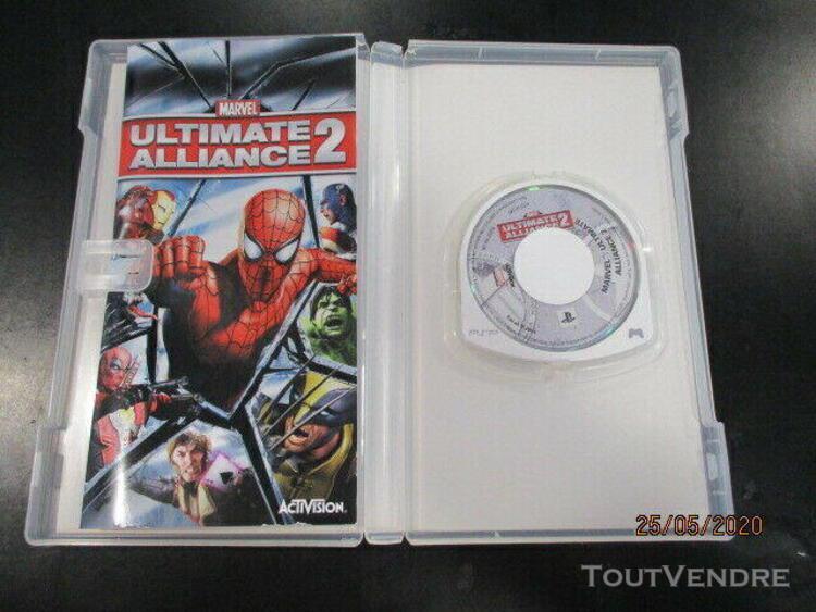 Jeu psp sony psp marvel ultimate alliance 2 complet avec not