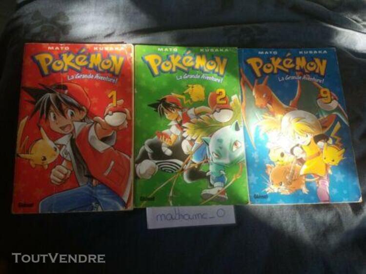 Livre pokemon | la grande aventure 1 et 2 et 9| edition 2001