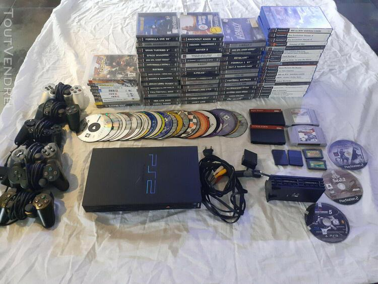 Lot 114 jeux ps1 ps2 ps3 gba n64 sega master + console + 6 m