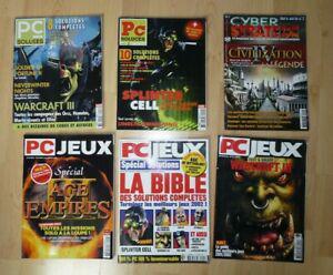Lot de 6 magazines de solutions - pc jeux pc soluces cyber