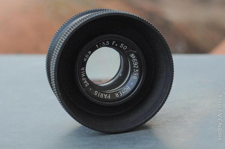Objectif boyer saphir b 50mm 1:3,5 en tbe+boite