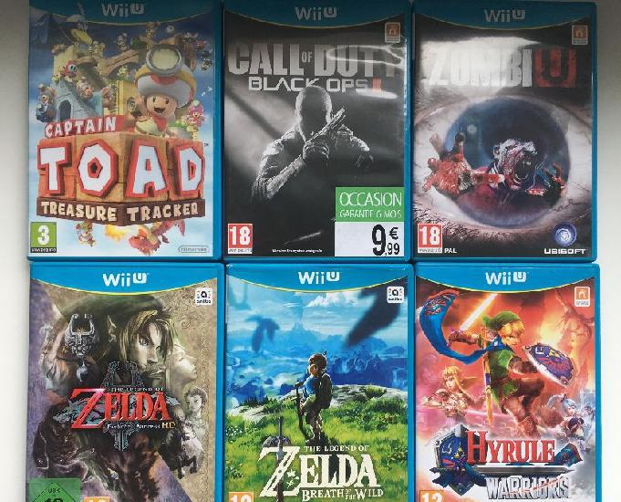 Wii u noir 32go + 6 jeux + manette + protection