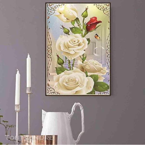 bricolage 5d diamant peinture 2020 belle rose fleur diamant