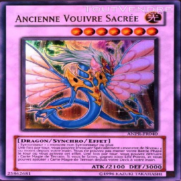 Carte yu-gi-oh anpr-fr040-misprint ancien dragon féerique