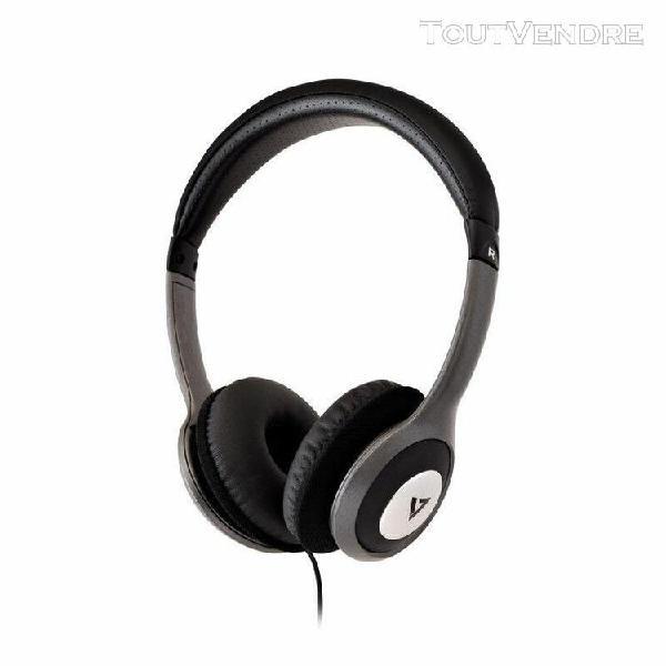 Casque deluxe stereo jack reducteur bruit 1 8m noir/gris