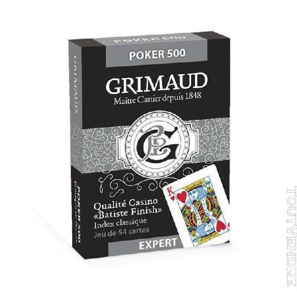 """Duo pack grimaud expert """"poker jumbo"""" - 2 jeux de 54 cartes"""