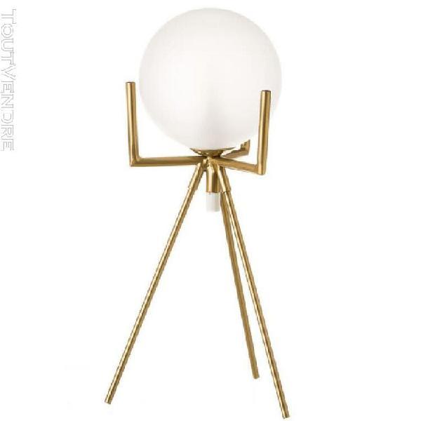 Lampe de table en métal or
