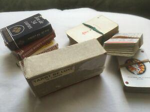 Lot jeux de cartes: ancien tarot de luxe grimaud (boite +