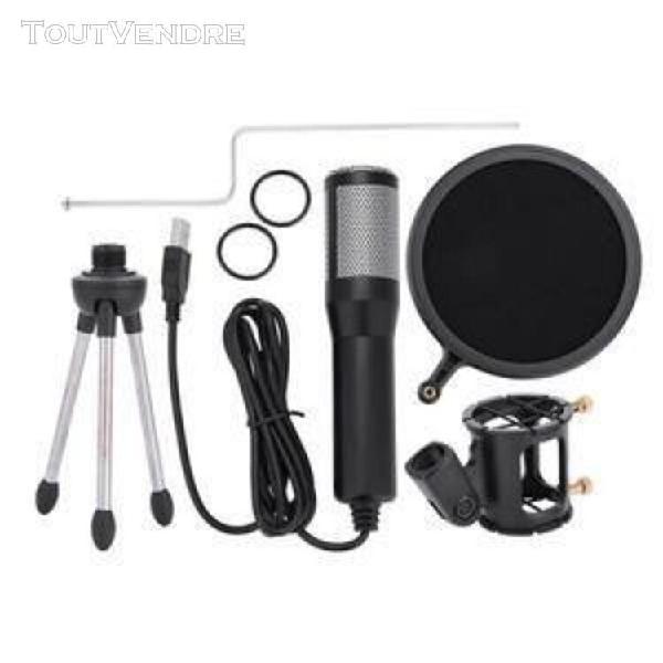 Microphone à condensateur usb portable pc professionnel