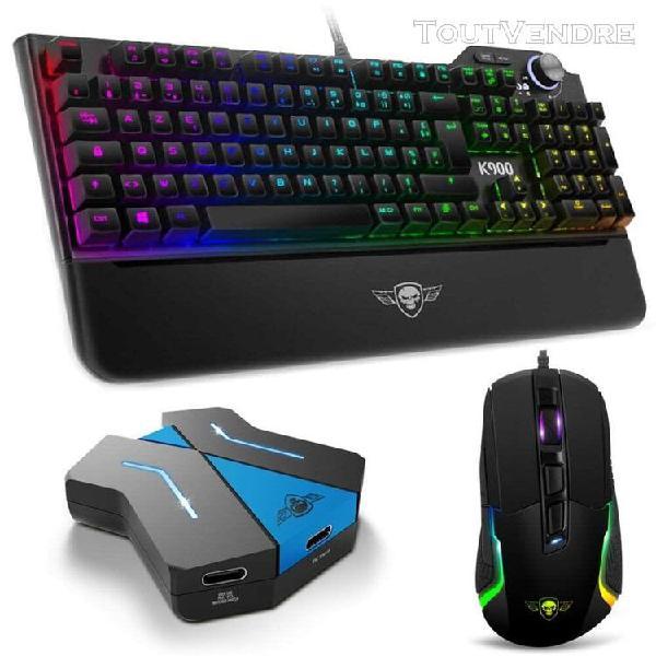 Pack xpert gamer avec clavier opto mécanique full anti
