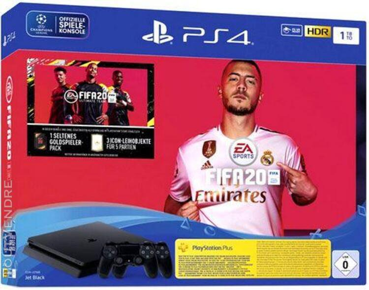 Sony playstation 4 slim 1 to + fifa 20 + 2 manettes dualshoc