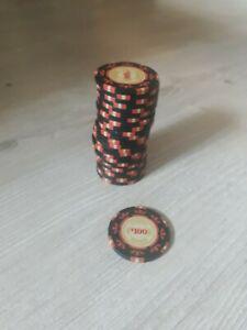 Lot de 25 jetons de poker casino royale 100$