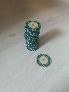 Lot de 25 jetons de poker casino royale 25$