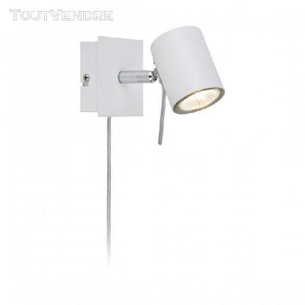 Applique murale hyssna led blanche 1 ampoule