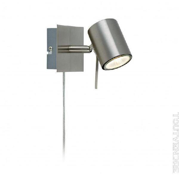 Applique murale hyssna led en acier 1 ampoule