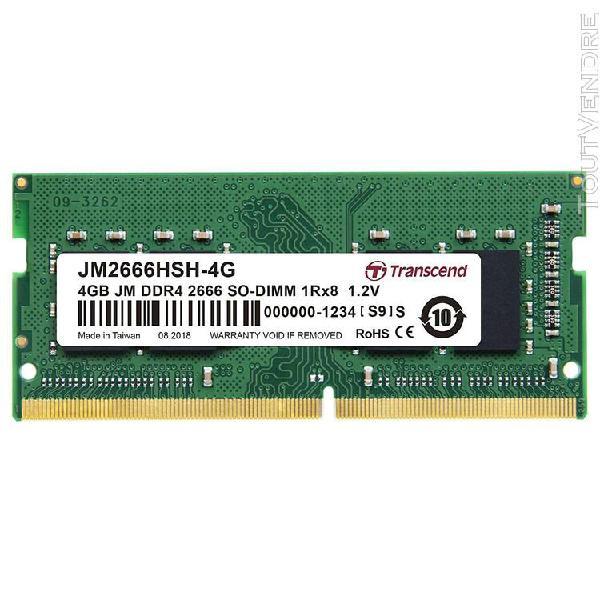 Mémoire ram transcend jm2666hsh-4g module de mémoire 4 go