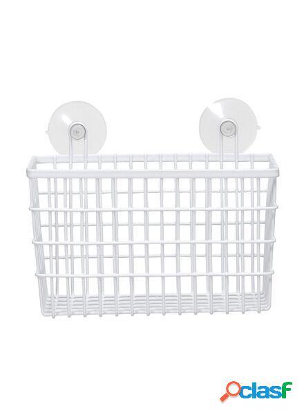Hema étagère inox pour salle de bain (blanc)