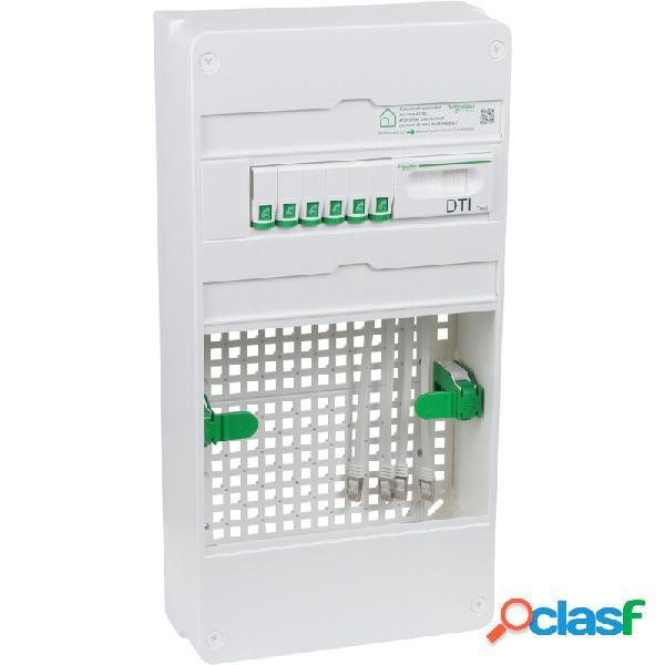 Coffret vdi grade 2tv + box schneider resi9 lexcom pack essential 6xrj45 - 3 rangs