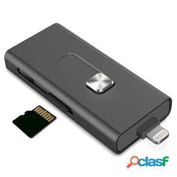 Lecteur de carte microsd lightning / usb ksix imemory extension - iphone, ipod, ipad