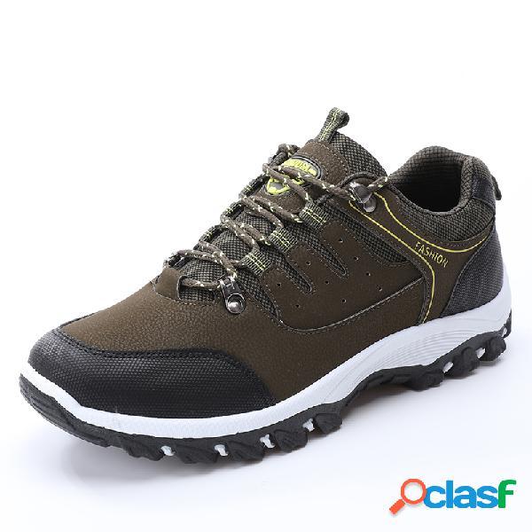 Chaussures de randonnée en cuir microfibre pour hommes