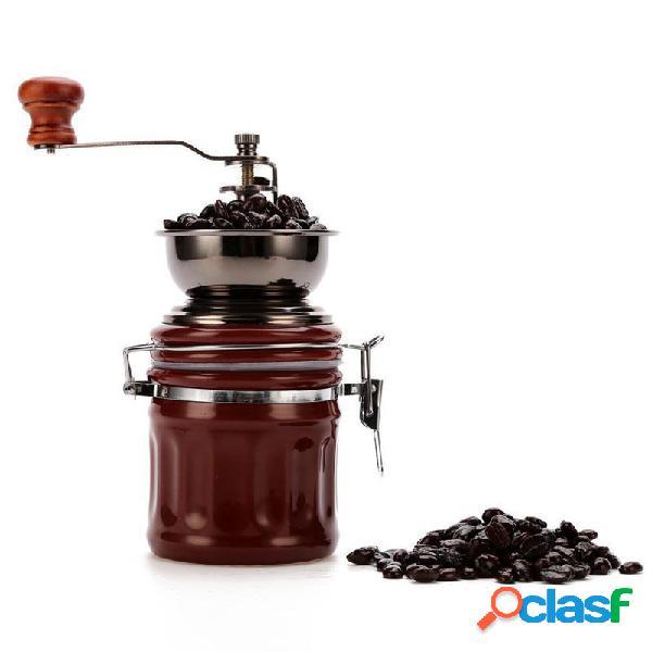 Outil de meulage manuel de broyeur de noix de moulin manuel manuel en céramique de grain de café d'acier inoxydable