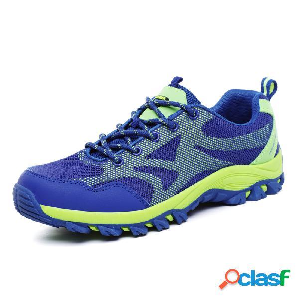 Chaussures de randonnée en plein air pour hommes baskets à lacets antidérapantes