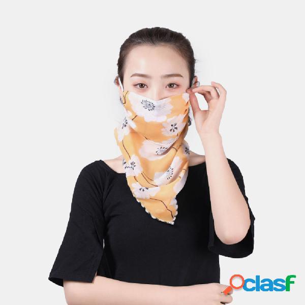 Masques d'impression montés sur les oreilles d'été protection du cou écran solaire écharpe châle