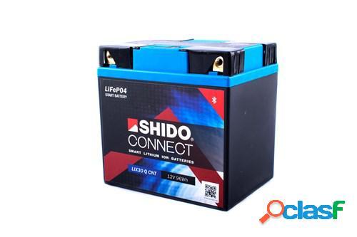 SHIDO Batterie Lithium-Ion Connect, moto & scooter, LIX30-Q-CNT