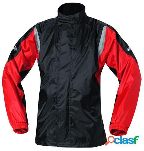 Held mistral ii, veste de pluie moto, noir-rouge