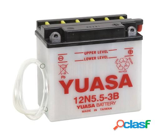 YUASA Batterie 12V conventionnelle, moto & scooter, 12N5.5-3B