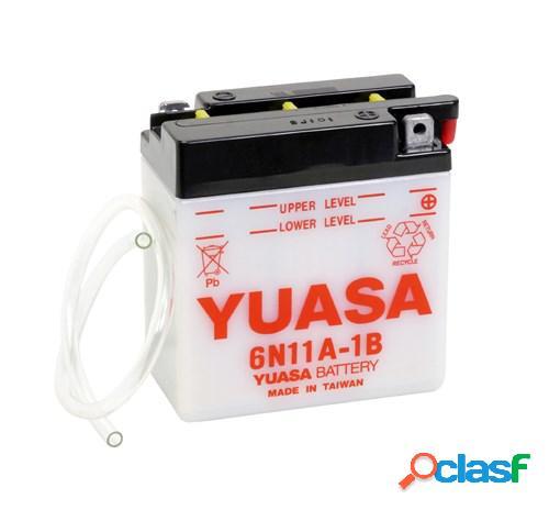 YUASA Batterie 6V conventionnelle, moto & scooter, 6N11A-1B