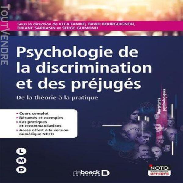 Psychologie de la discrimination et des préjuges - de la
