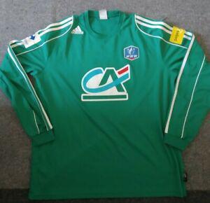 Ancien maillot de foot coupe de france porté #13 vert
